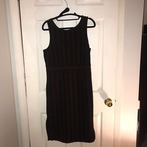 Brown and black zig zag patterned dress